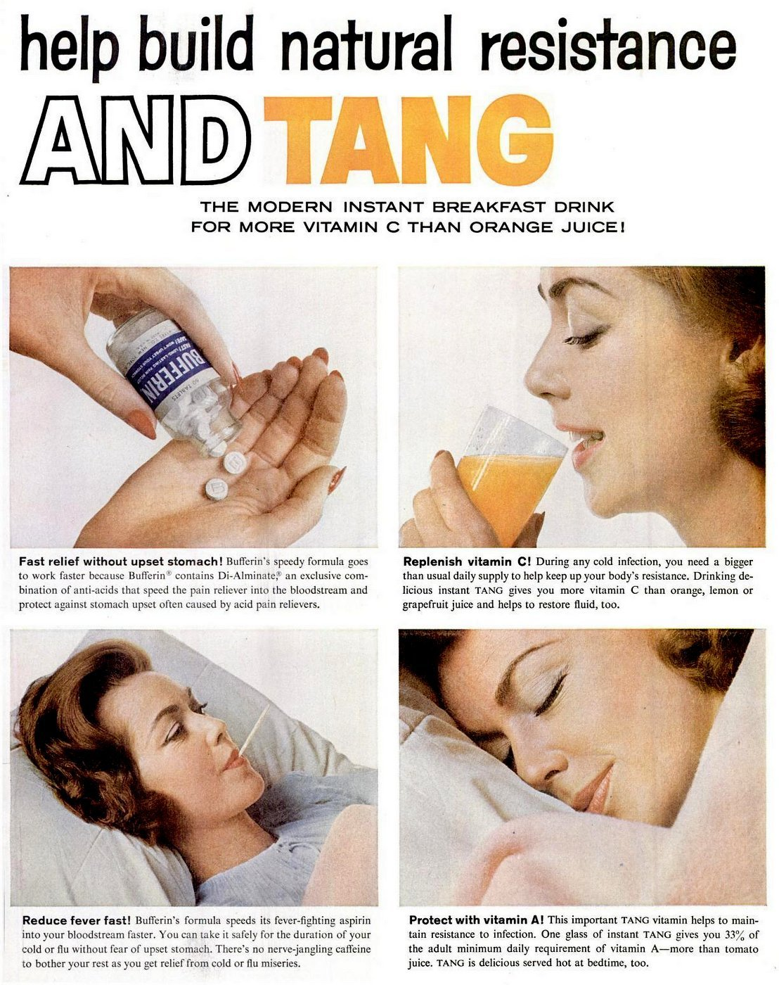 1960 Tang drink for health