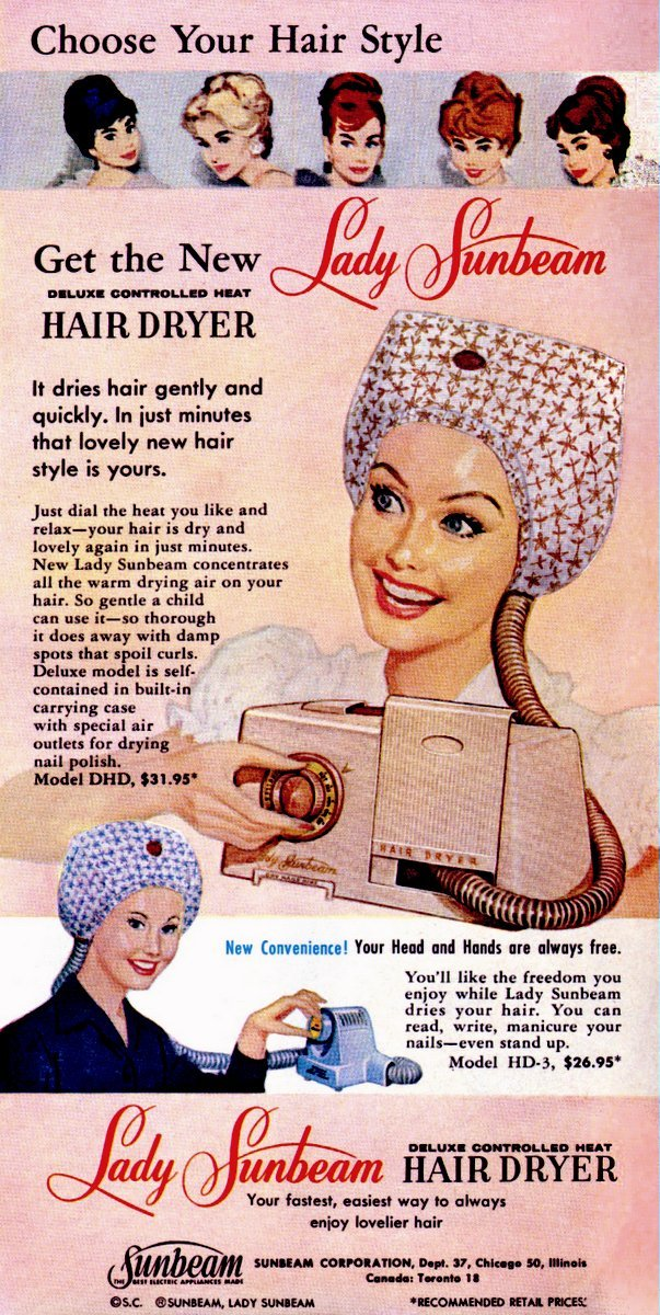 Image result for 1960 hairdryers