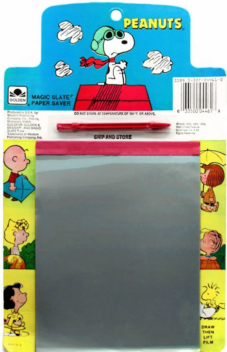 1960s Vintage Magic Slate Paper Saver drawing toy - Peanuts