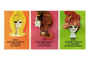 1960s Vintage makeup gift sets from Clairol, based on hair color