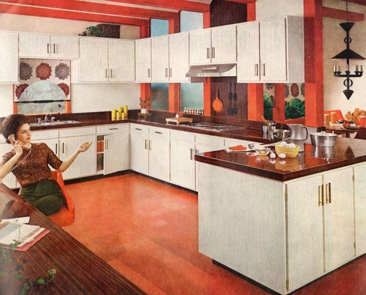 Six wonderful, workable kitchen designs from the '60s