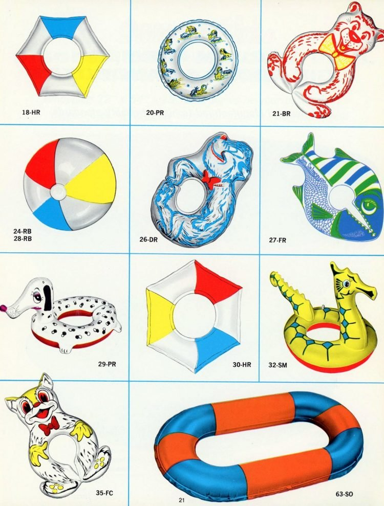 1960s pool inflatable toys