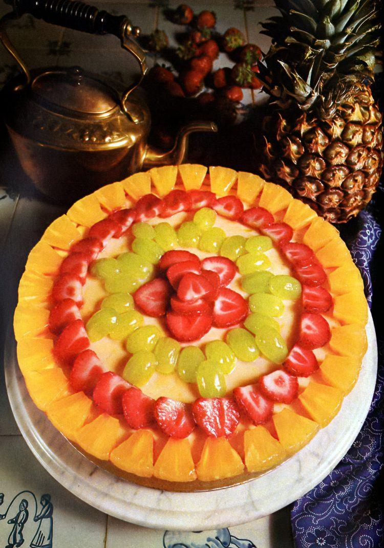 1960s recipe for Gorgeous glazed fruit cheesecake