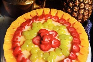 Gorgeous glazed fruit cheesecake