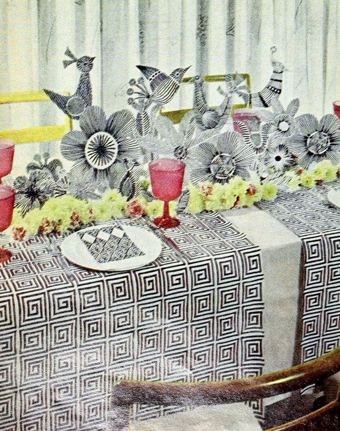 1960s-style table decor from 1966 (1)