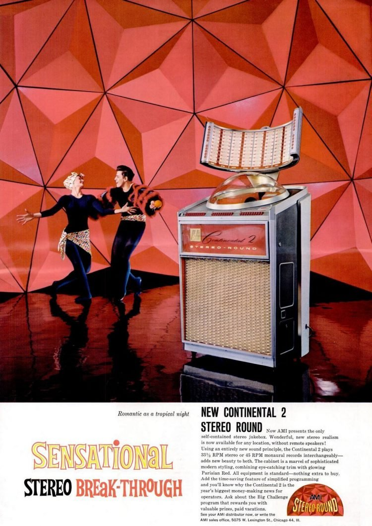 1961 AMI Continental 2 Stereo-Round jukebox