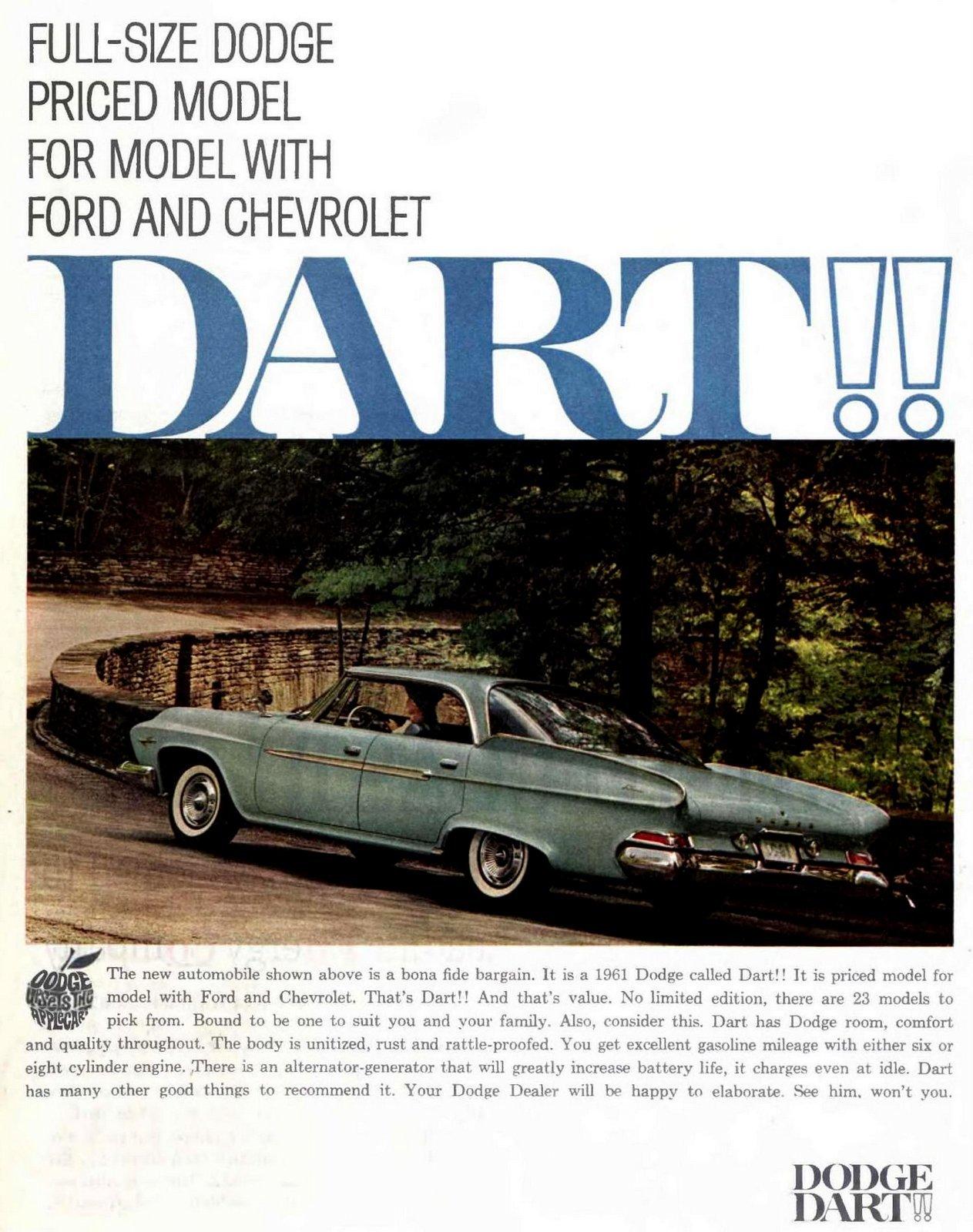 1961 Dodge Dart cars from Chrysler