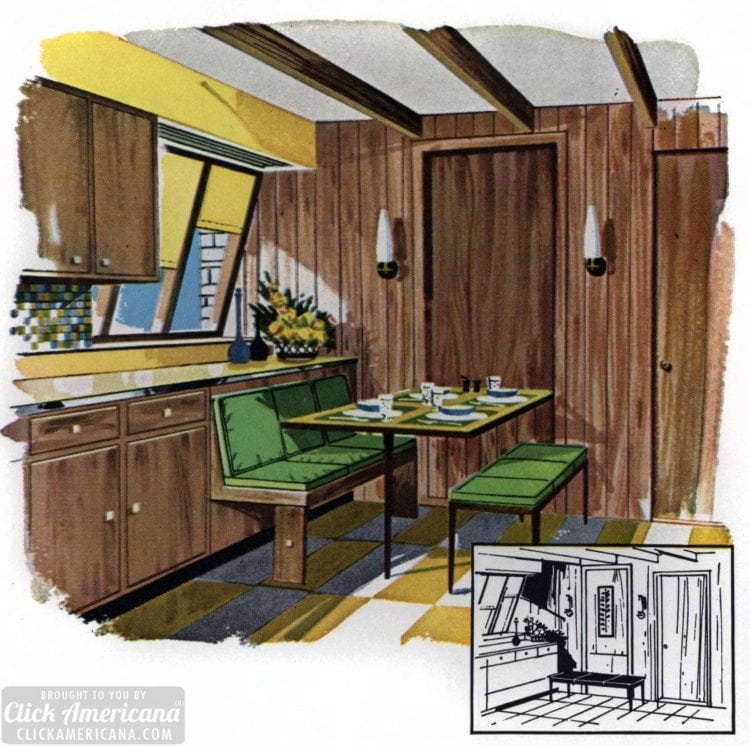 How to make a fold-away dining corner (1961)