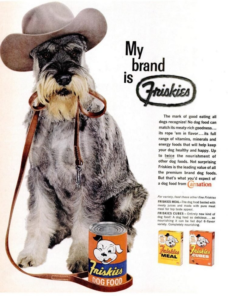 1961 Friskies dog food