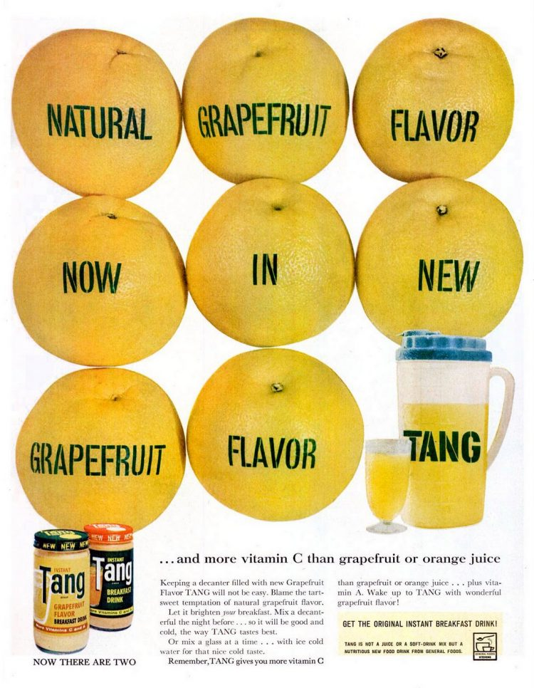 1961 Grapefruit Tang drink mix