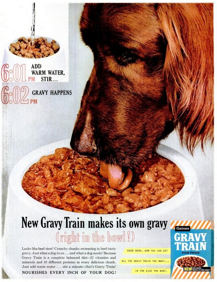 1961 Gravy Train dog food
