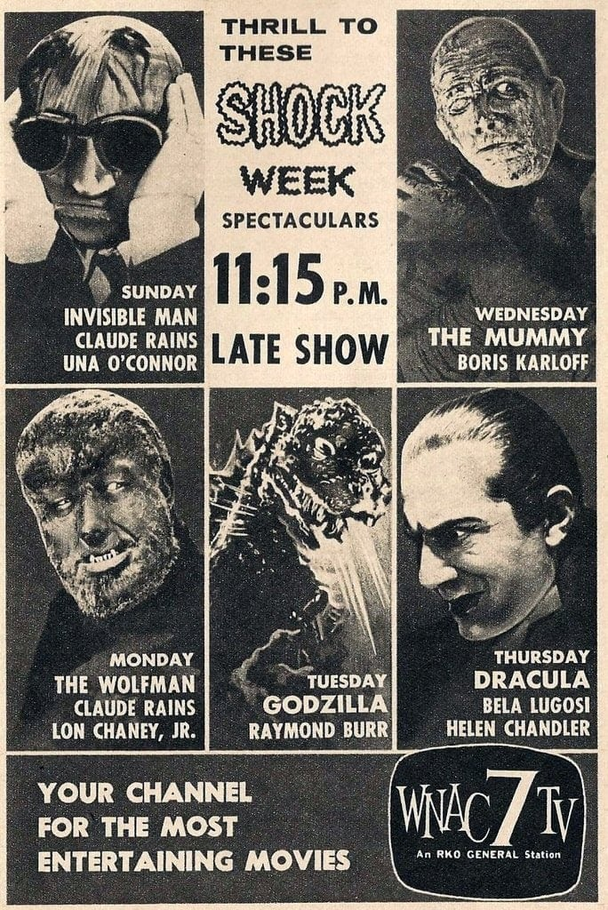 1961 Shock week TV movies