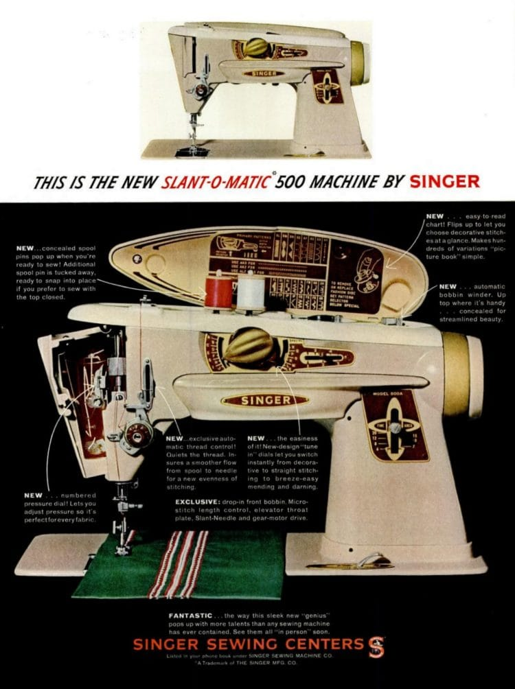1961 Singer Slant-O-Matic sewing machine