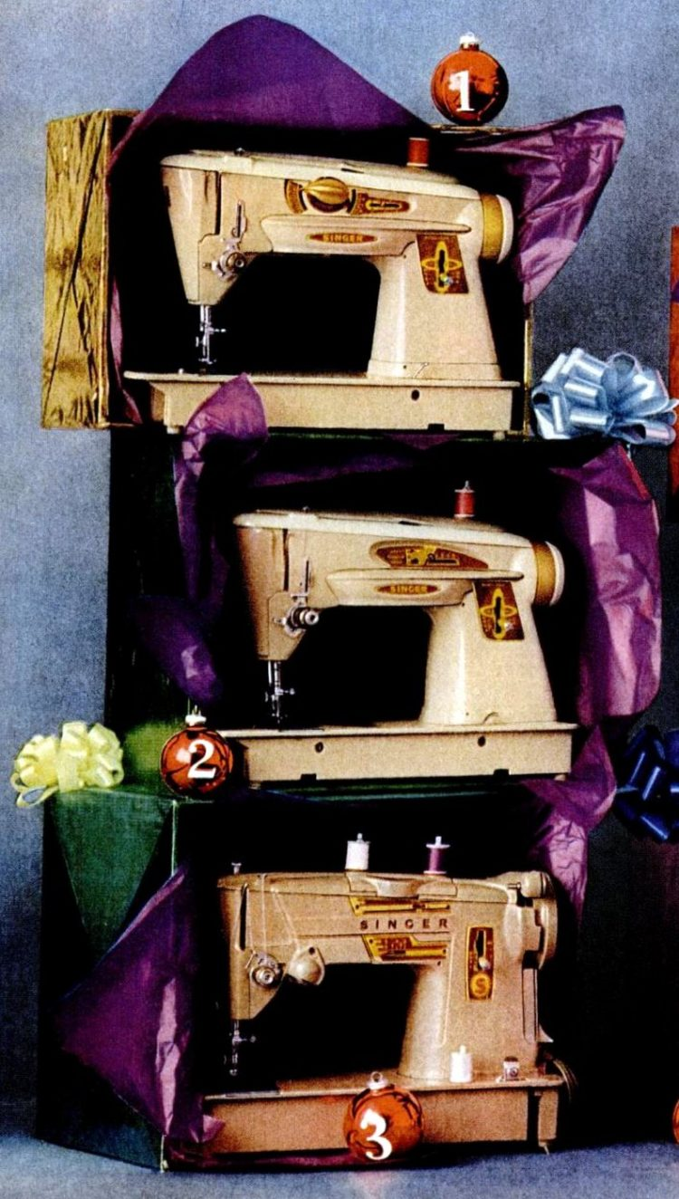 1961 Singer sewing machines