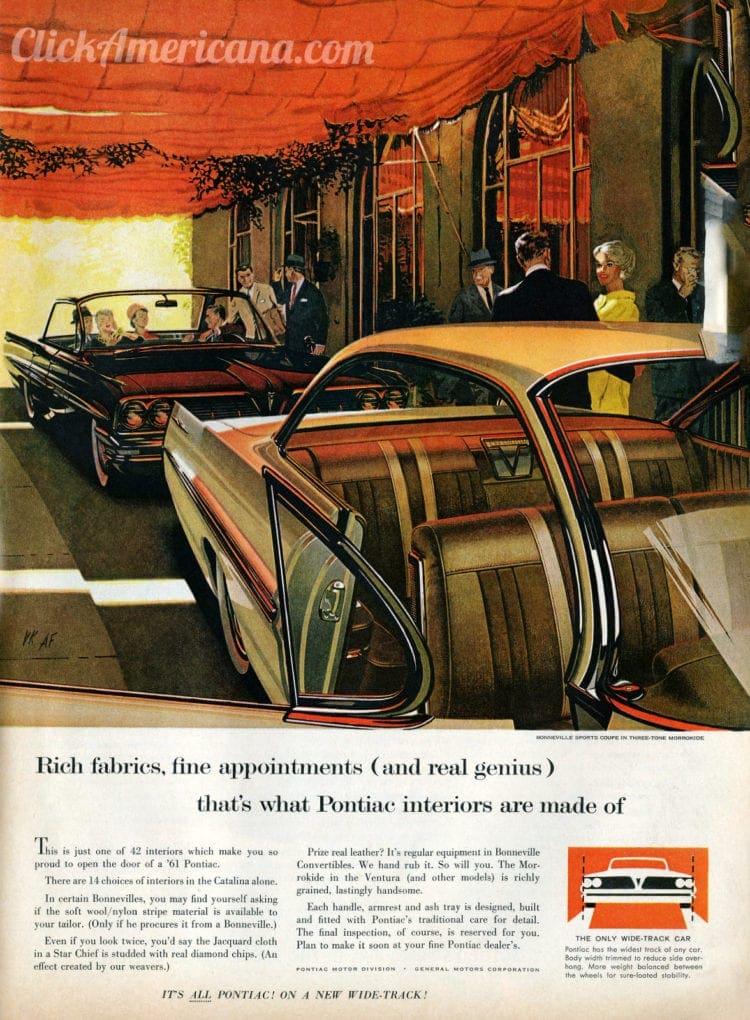 1961 Wide-Track Pontiac cars