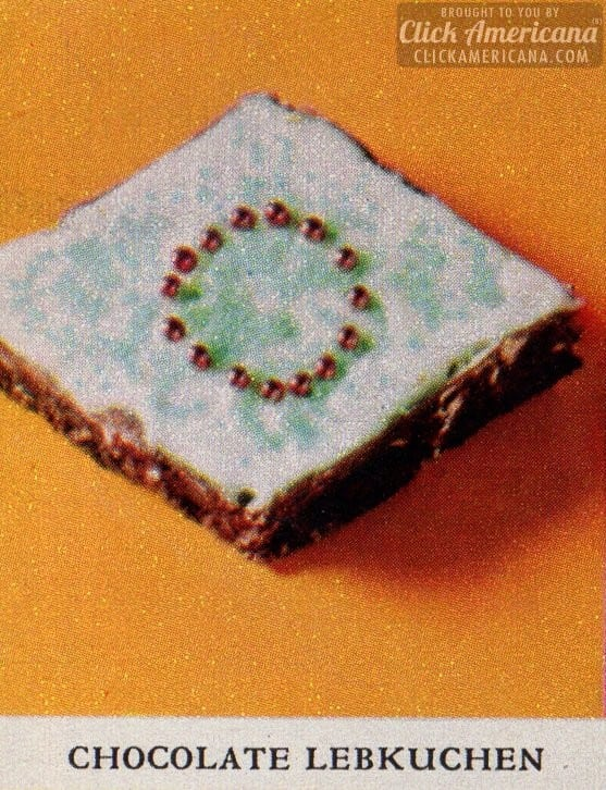 Holiday cookie box: Chocolate Lebkuchen cookies (1961)
