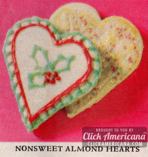 Holiday cookie box: Almond heart cookies (1961)
