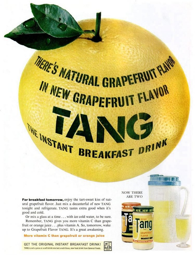 1962 Grapefruit Tang drink mix