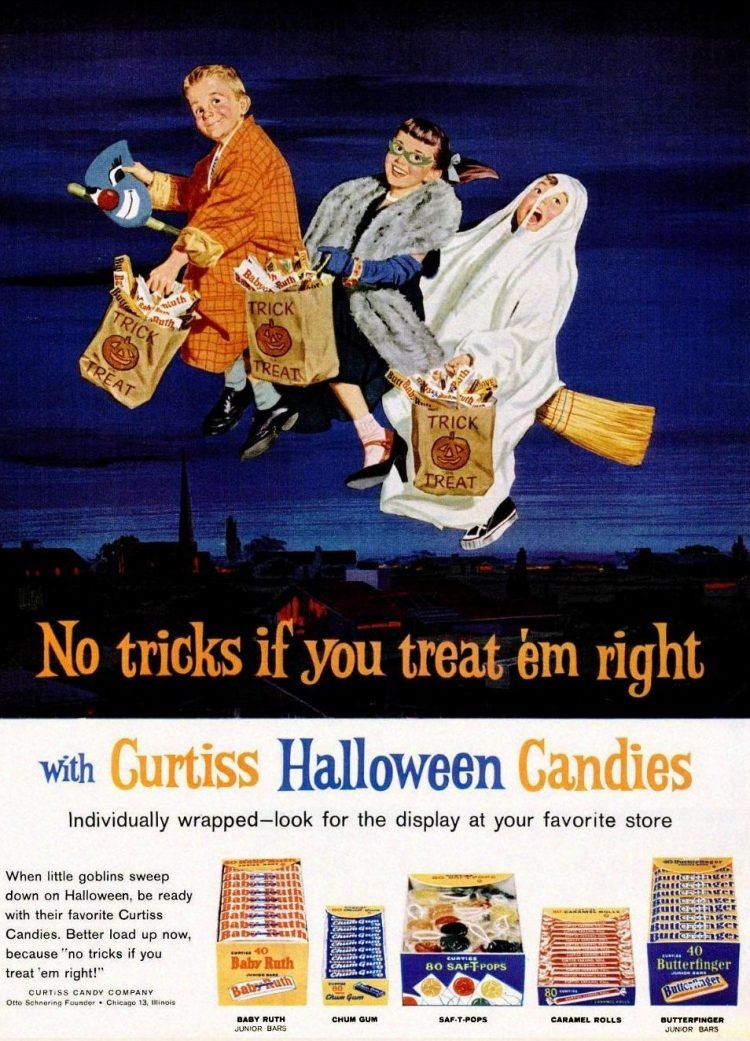1962 Halloween candy