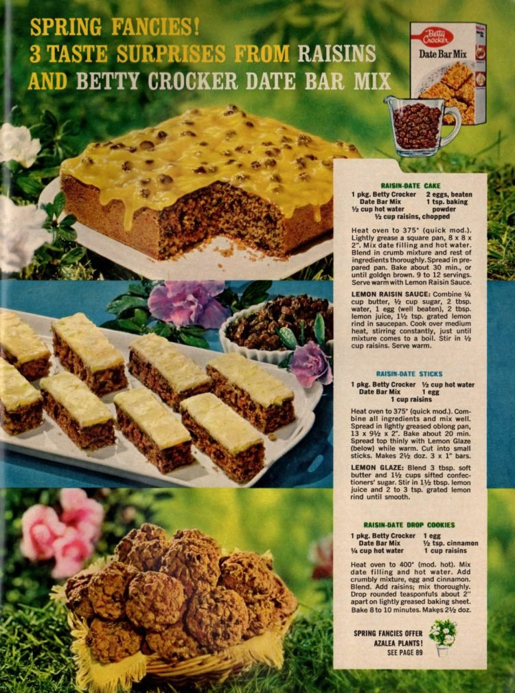 1962-Raisin-date cake, sticks drop cookies