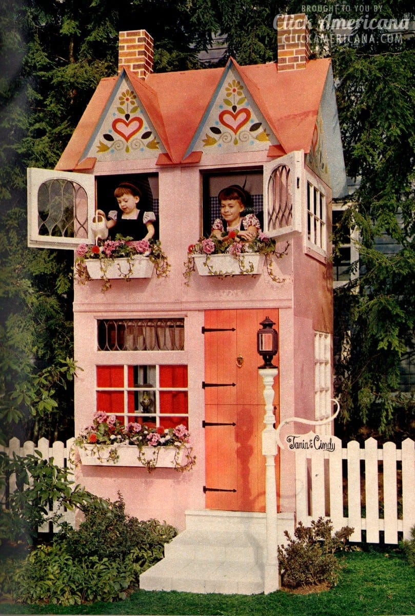 Build a dream come true play house in your backyard 1962 for Make own house