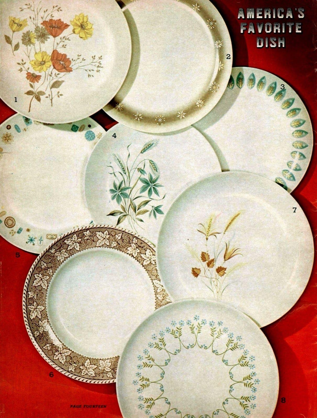 Vintage dishware patterns for plates