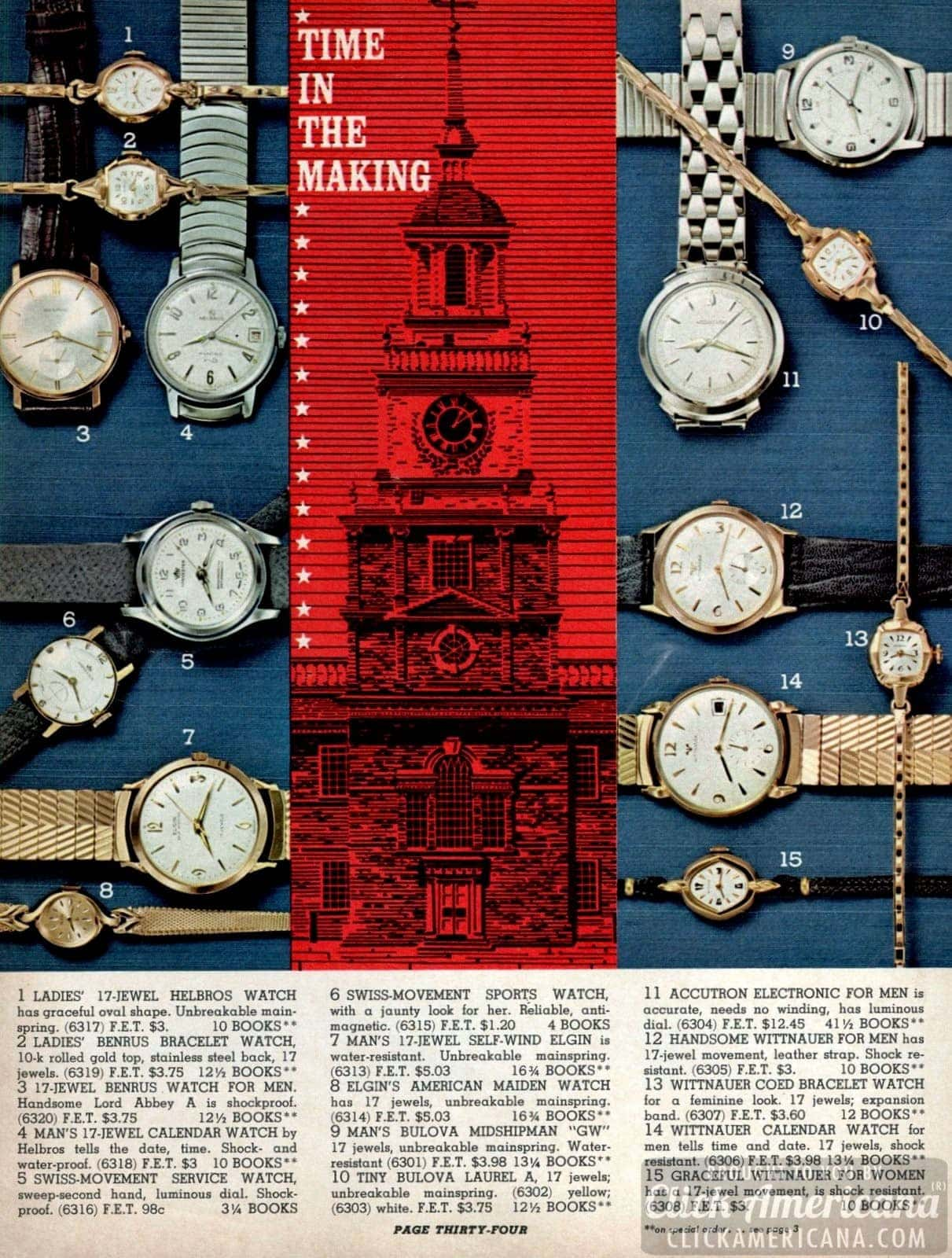 Vintage watches for men and women