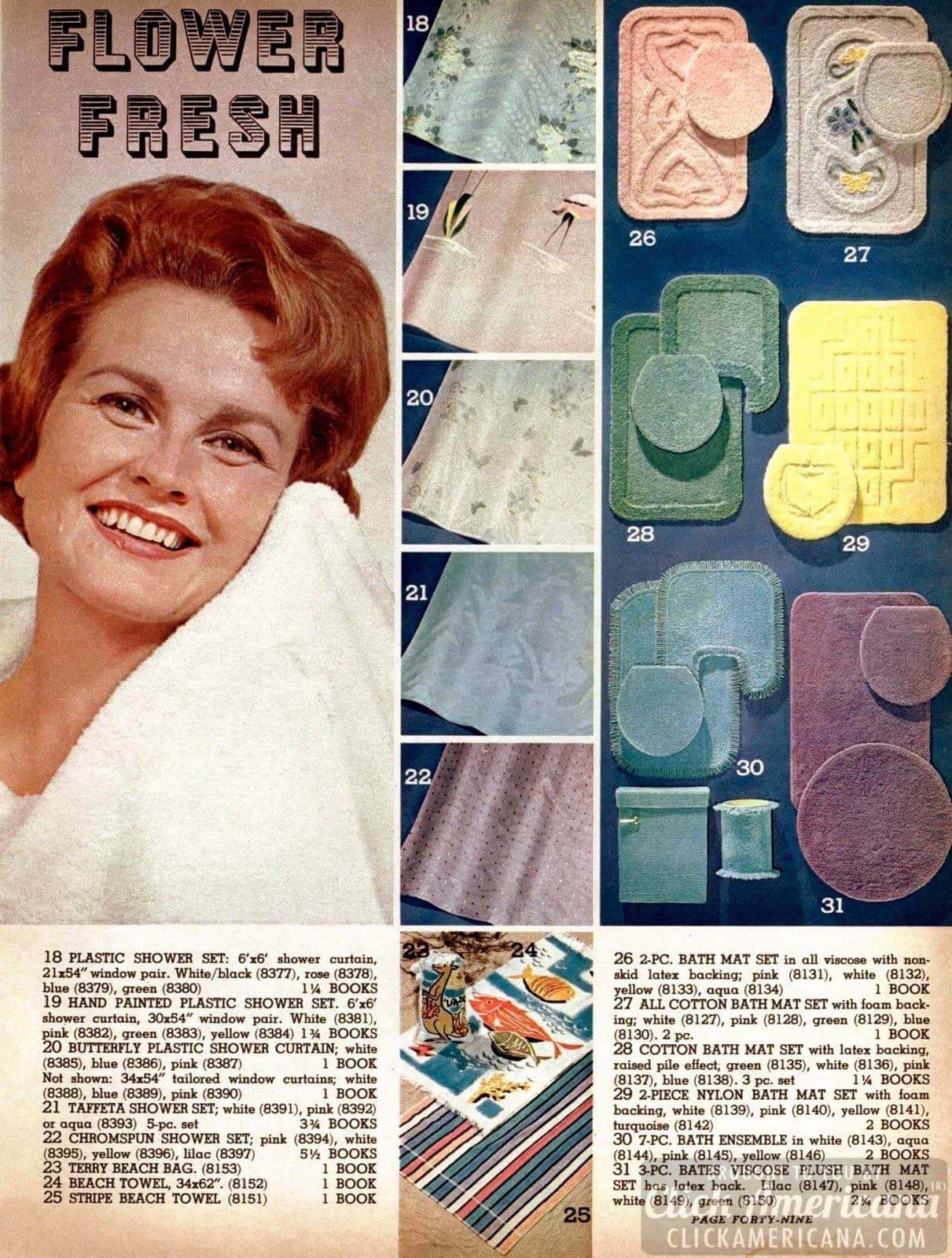 Vintage bathroom accessories for the home