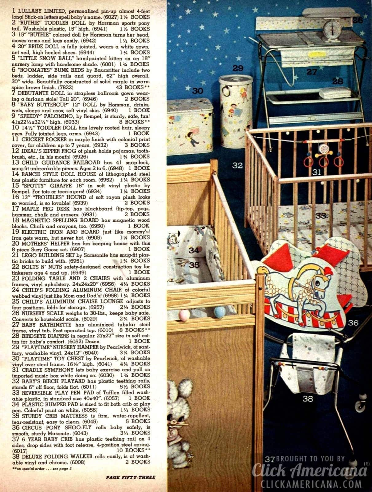 Vintage cribs, playpens, walkers and more for babies in the sixties