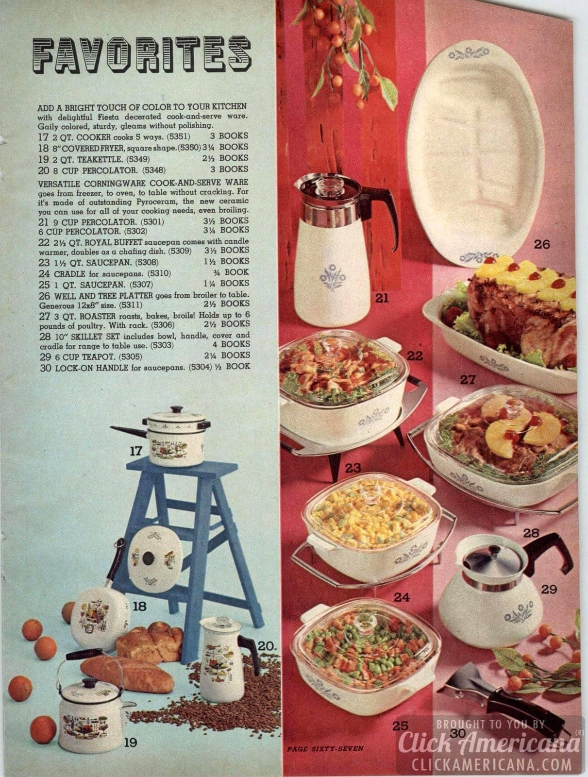 Vintage Pyrex and good old-fashioned Corningware - plus teapots, platters and more