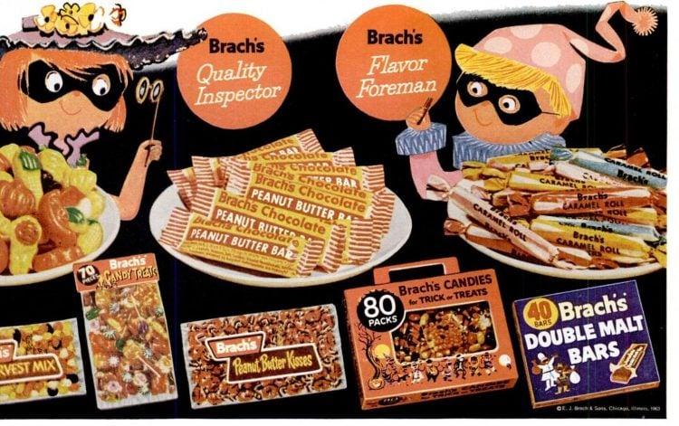 1963 Halloween candy from Brach's
