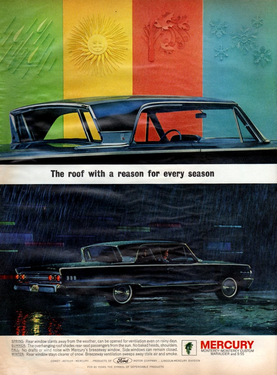 1963 Mercury Monterey The roof with a reason for every season