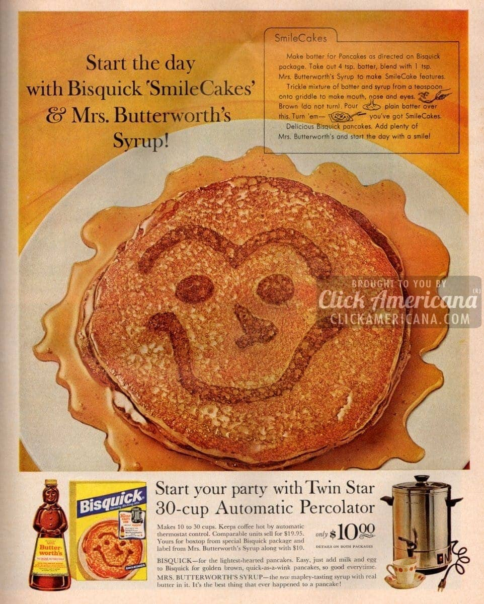 Whip up a batch of SmileCakes for breakfast (1963)