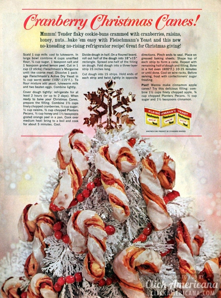 Cranberry Christmas Canes & Cinnamon Apple Canes (1963)
