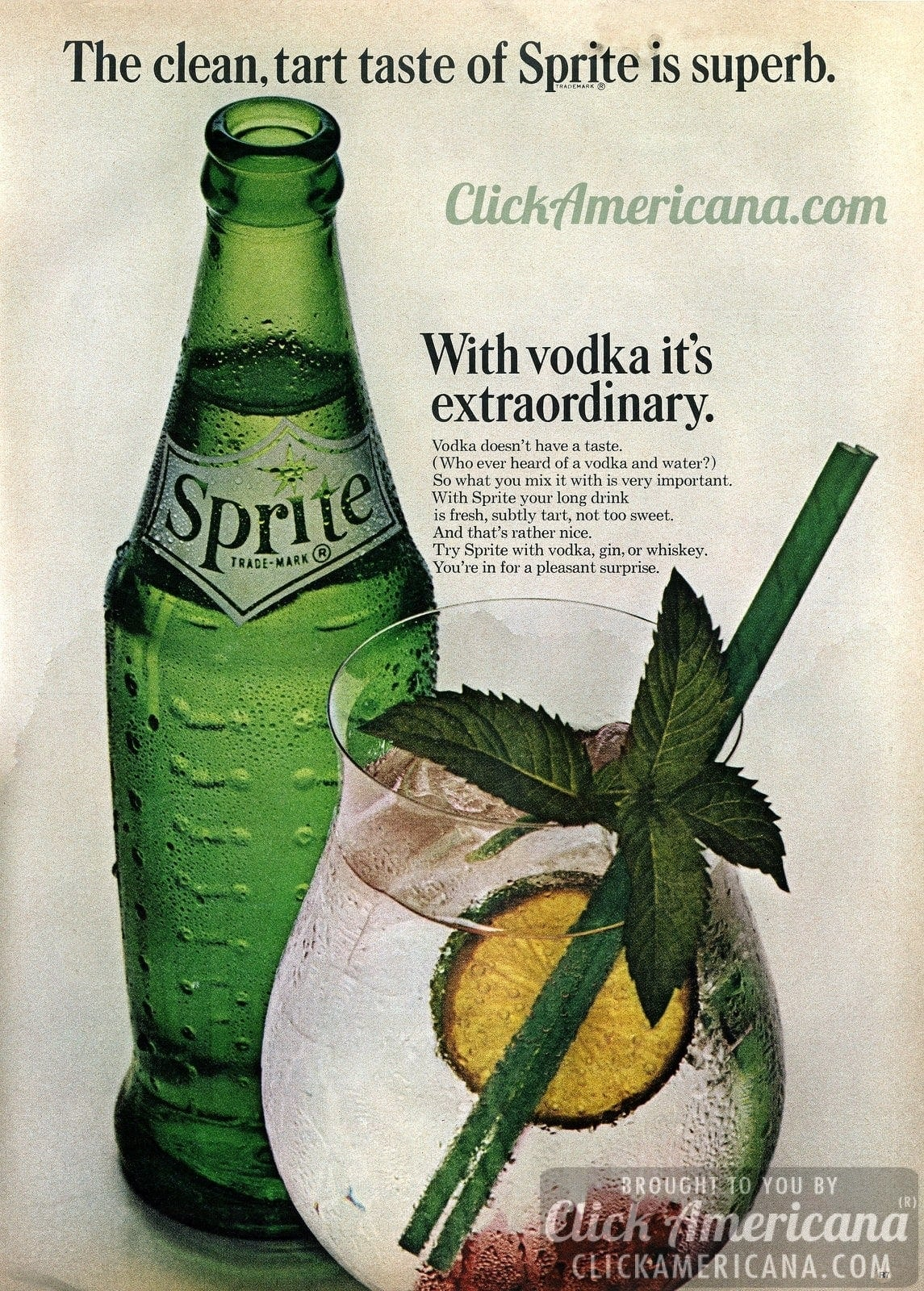 Sprite Extraordinary With Vodka 1963