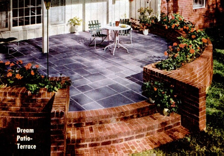 1964 - A dream patio-terrace
