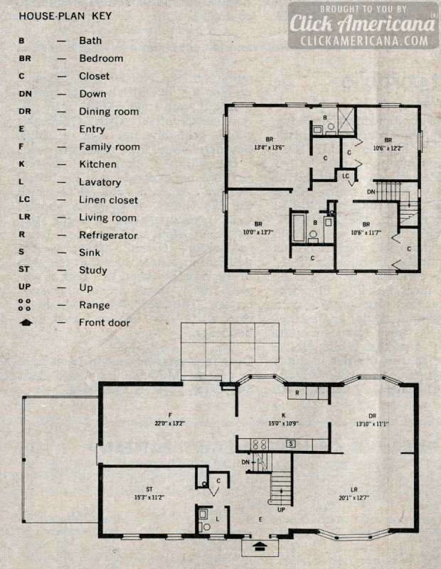 1964 House Plan 2 Storey Plan Home Plans Ideas Picture