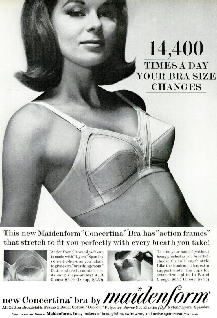1964 - Maidenform bras - fashion