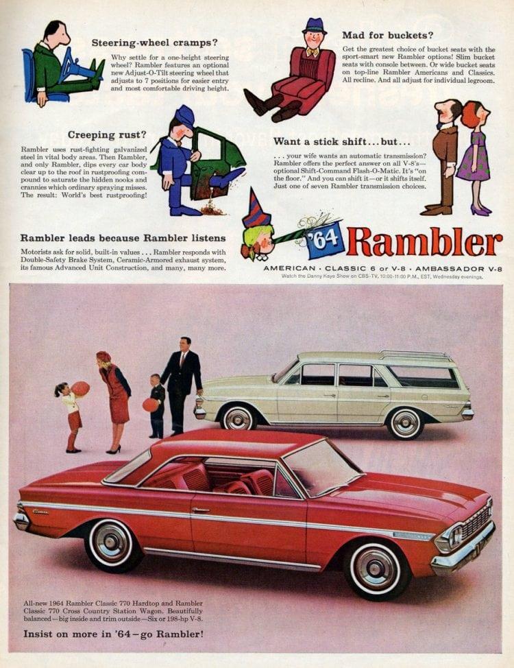 1964 Rambler Classic 770 Hardtop and Rambler Classic 770 Cross Country Station Wagon