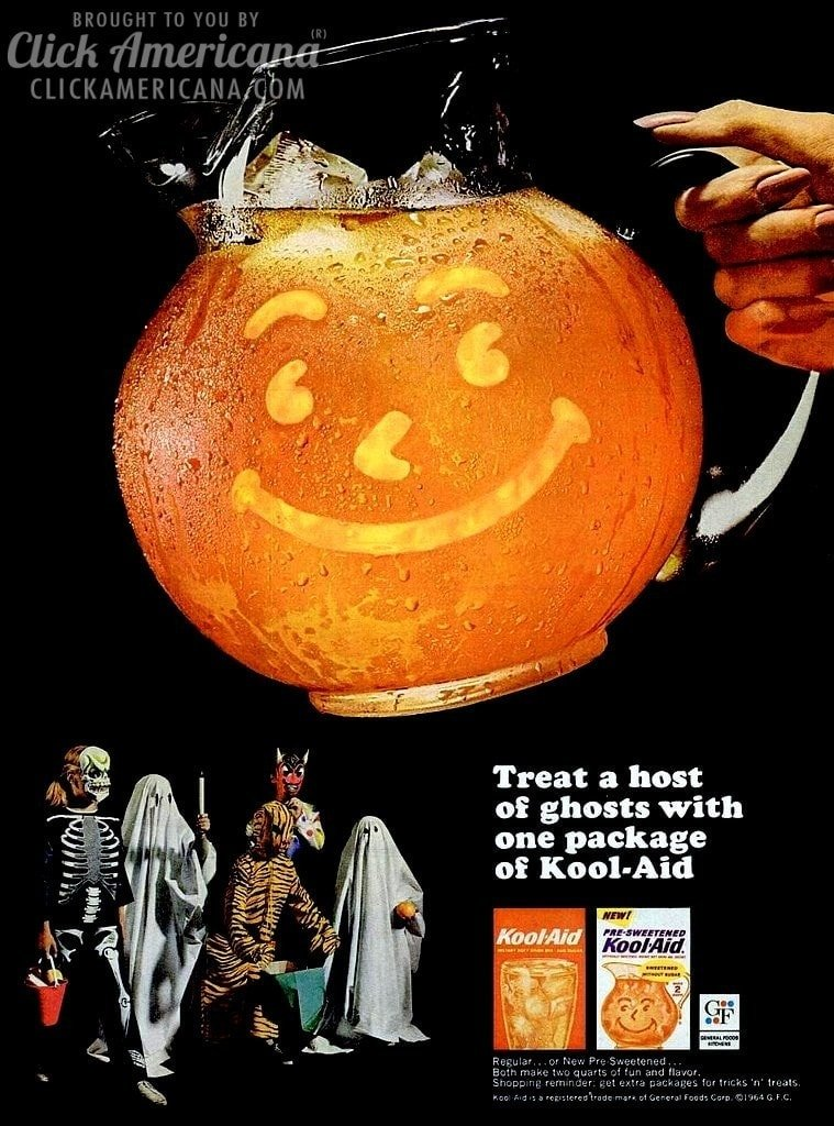 Treat a host of Halloween ghosts with Kool-Aid (1964)