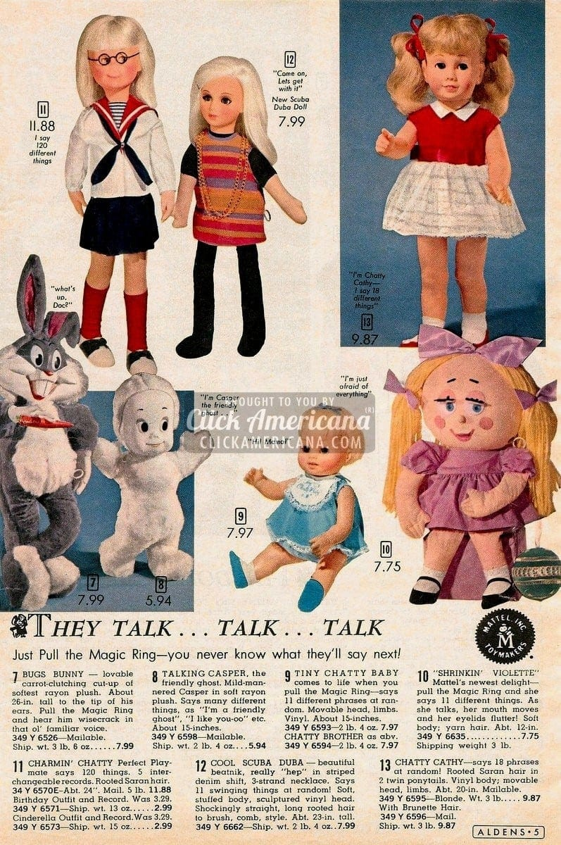 Talking dolls & toys: Just pull the Magic Ring (1964)