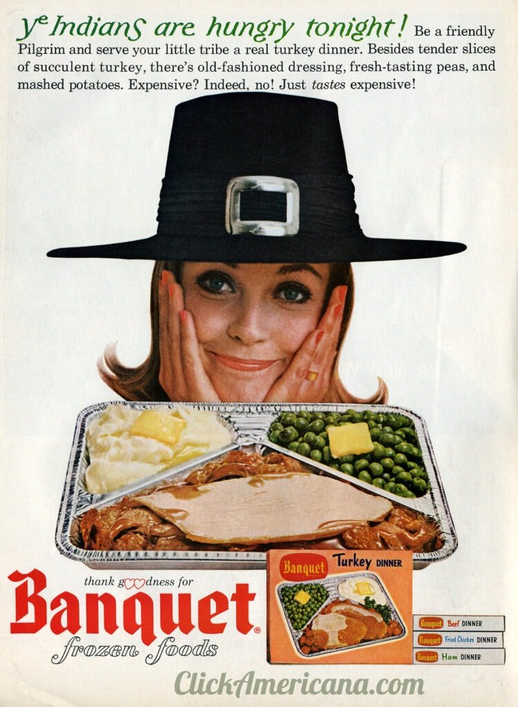 1964 vintage Banquet TV dinner for Thanksgiving time