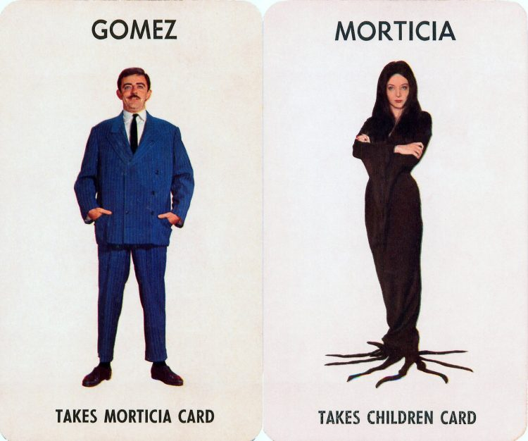 1965 Addams Family board game cards by Milton-Bradley (1)