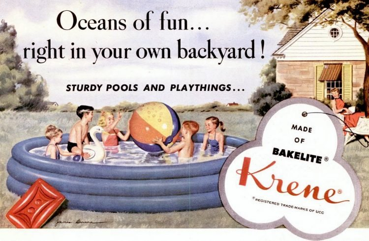 1965 Bakelite Kreme swimming pools