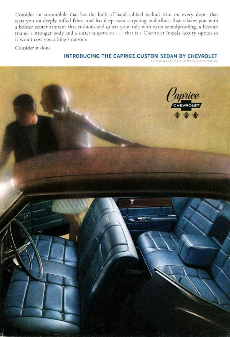 1965 Caprice custom sedan by Chevrolet