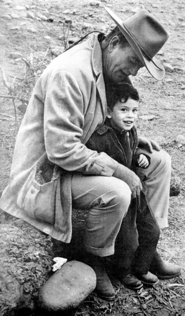 1965 John Wayne with his son