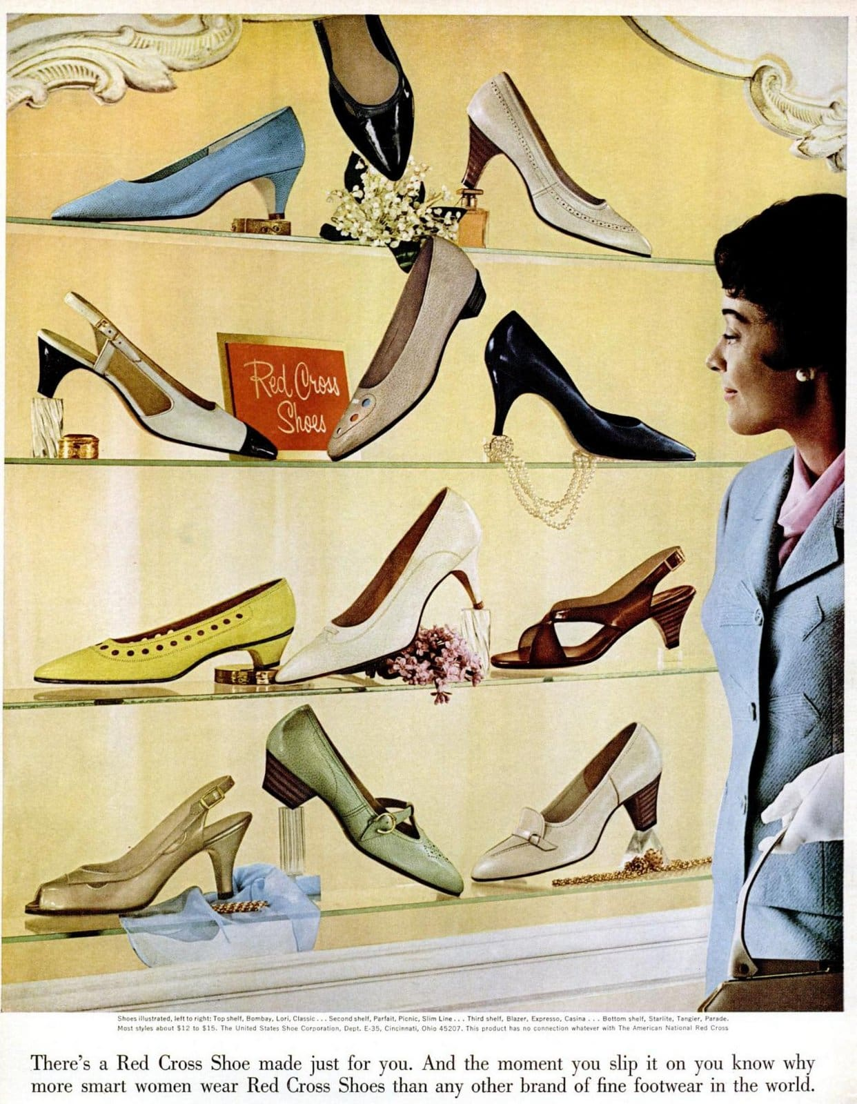 Vintage Red Cross shoe store display (1965)