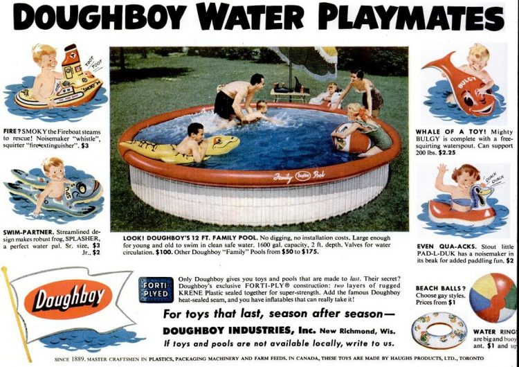 1965 Small Doughboy pools