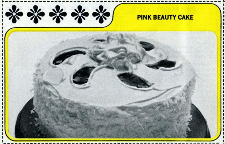 1965 Vintage pink beauty cake recipe (1)