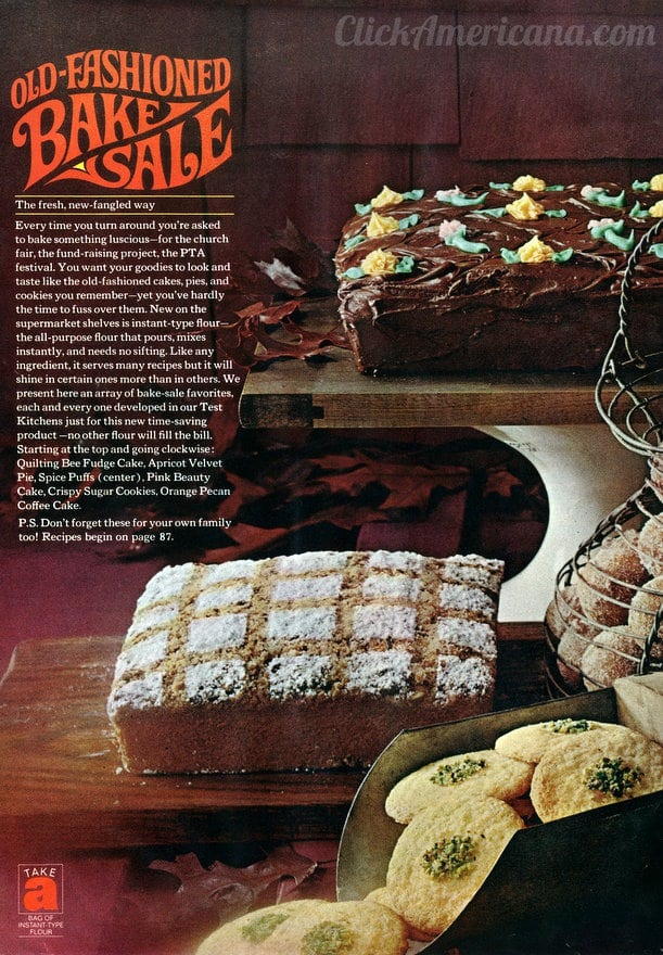 Old Fashioned Bake Sale Recipes 1965 Click Americana